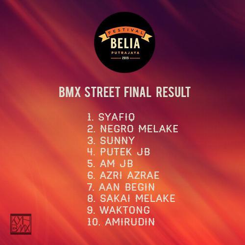 festival belia bmx final result