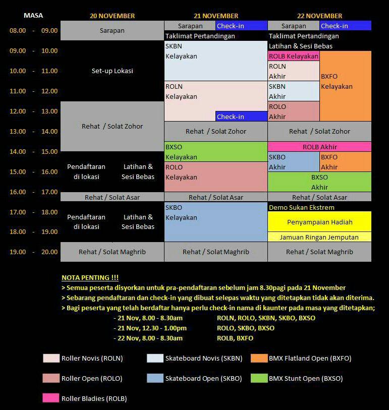 KXK Schedule